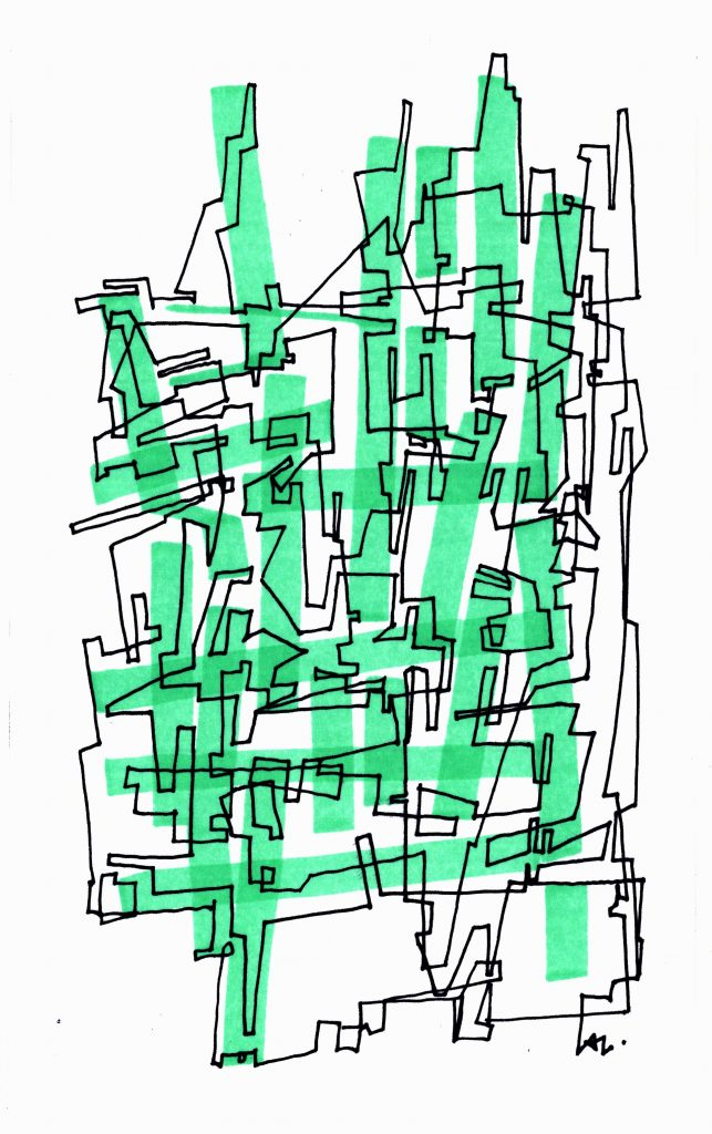Line culture with green